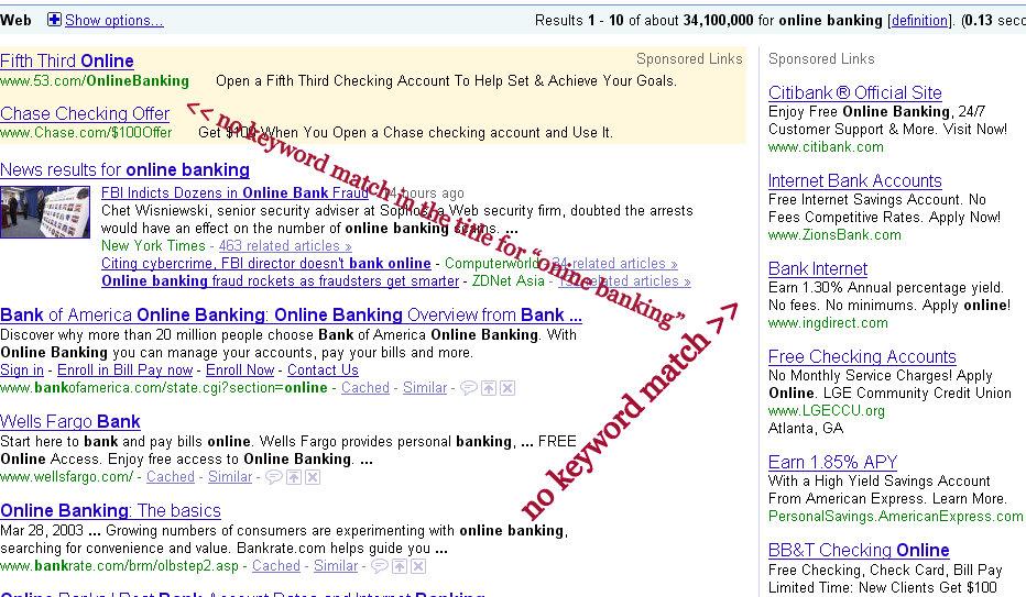 keyword-match-online-banking