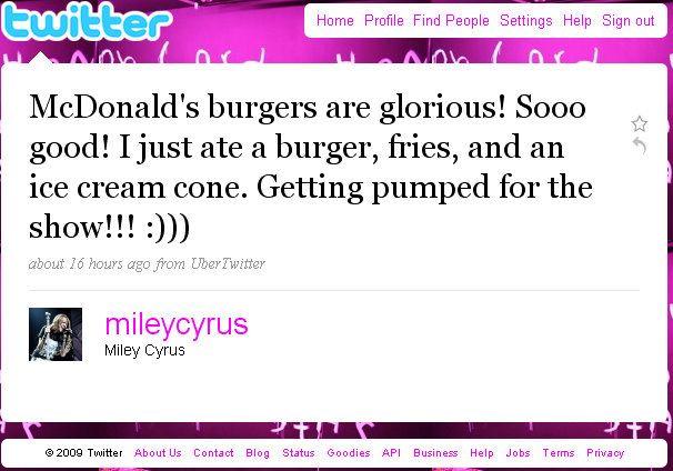 miley-cyrus-twitter-post-mc-donalds