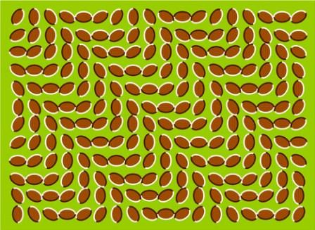 flowing leaves optical illusion image