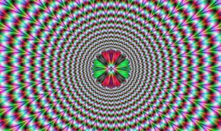 pulsing vortex optical illusion image