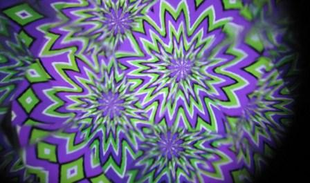 starburst optical illusion image