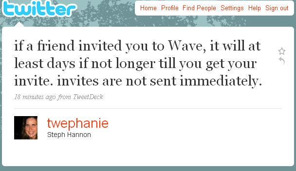 twephanie-google-wave-update