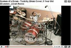 5 yr old drummer