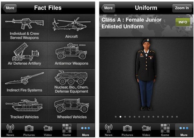 army iphone app 11