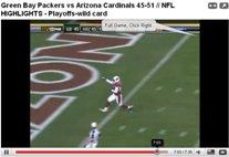 cardinals packers highlight video1