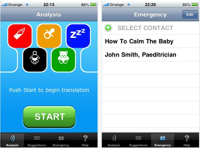 cry translator iphone app 1