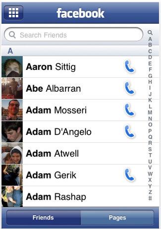 facebook fan page iphone app 1