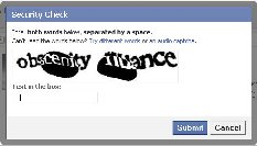 facebook word verification
