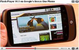 flash 10 1 google nexus one phone