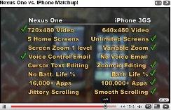 google nexus one iphone video comparison1