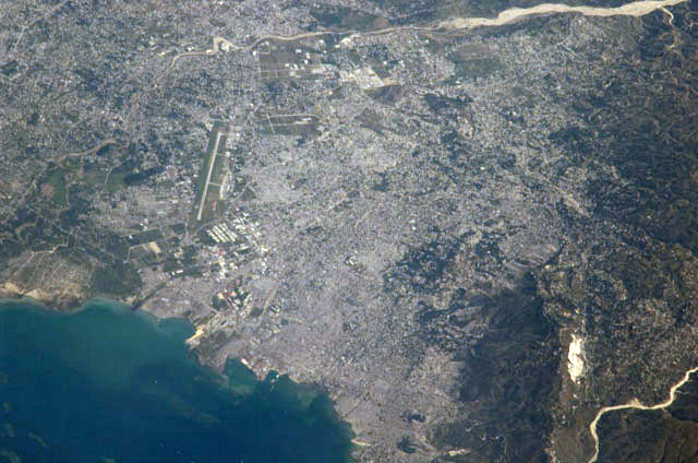 port au prince haiti from outerspace iss space station