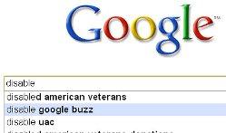 disable google buzz