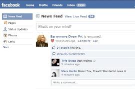 drew barrymore facebook