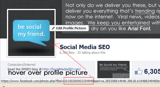 facebook profile method for page id lookup