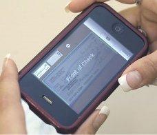 iphone check deposit image