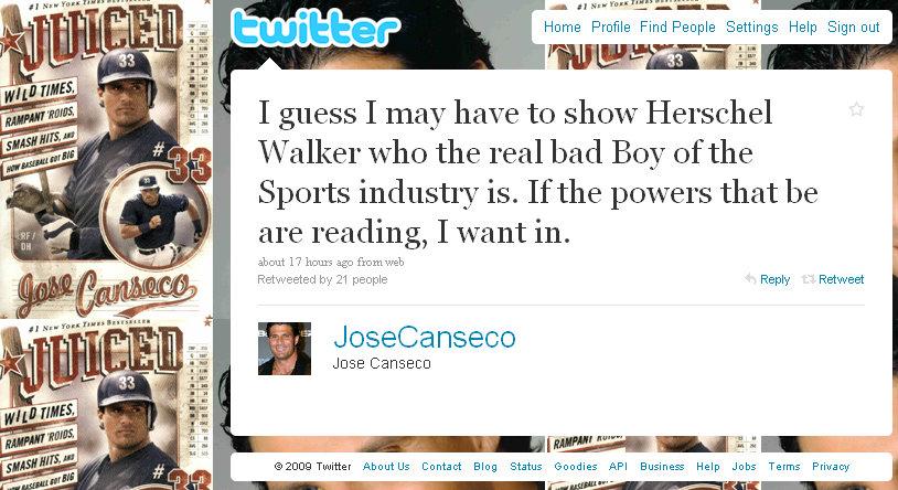 jose canseco tweet