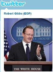 robert gibbs twitter white house press secretary