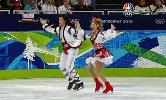 wild wacky ice skating costumes 2010 olympics