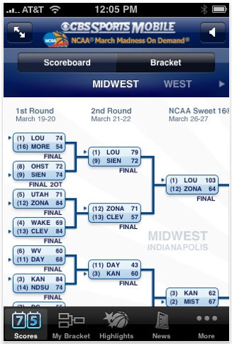cbs march madness iphone app 1
