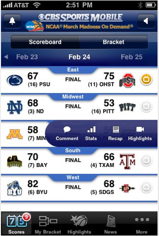 cbs march madness iphone app 3