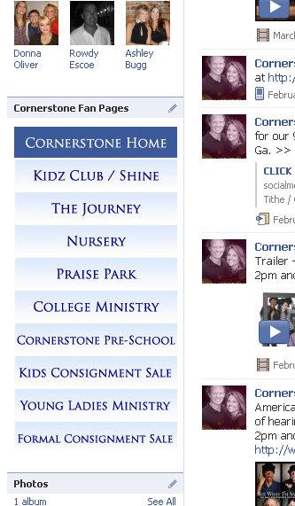 facebook fan page navigation