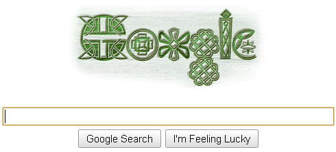 google logo st patricks day