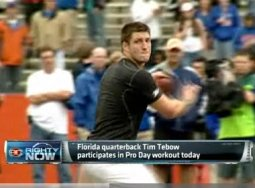 tim tebow pro day video