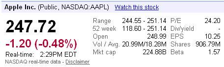 apple stock price new high