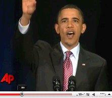 barack obama heckler speach