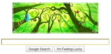google earth day logo doodle