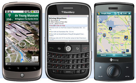 Blackberry Gets Google Maps 4 0 with Voice Search