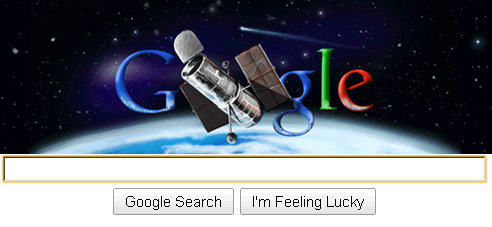 hubble telescope google logo