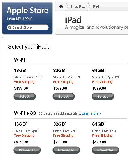 ipad 3g price breakdown