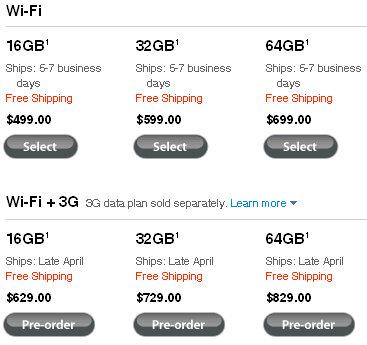ipad ipad 3g pricing scheme