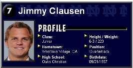 jimmy clausen draft pick projections