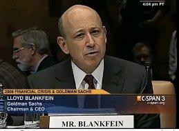 lloyd blankfein goldman sachs senate hearings