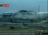 texas stadium demolition explosion video
