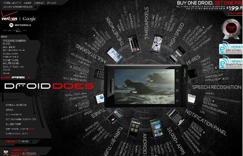 verizon droid does website