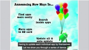android market place updates