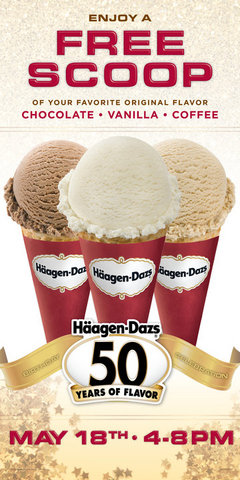 Free Haagen Dazs Ice Cream Give Away