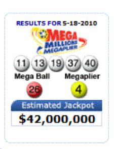 Mega Millions Winning Numbers: May 18, 2010 Lottery Drawing
