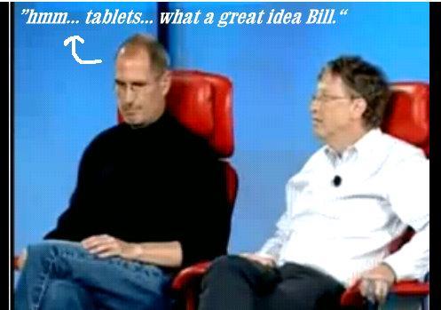 bill gates steve jobs ipad tablet concept