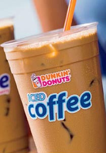 free iced coffee 2010 dunkin donuts