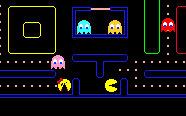 google pacman logo 2 players