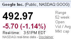 google stock prices