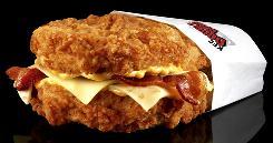 KFC double down sandwich in wrapper