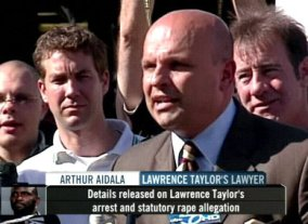 lawrence taylor arrested attorney