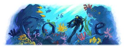 jacques cousteau google doodle logo