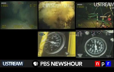 bo oil spill live feed cap