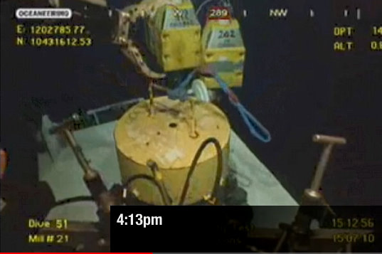 bp oil spill containment video